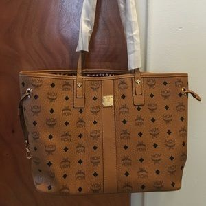 Authentic MCM Reversible Liz Shopper Bag